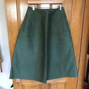 Junya Watanabe CDG cotton canvas pieced midi skirt